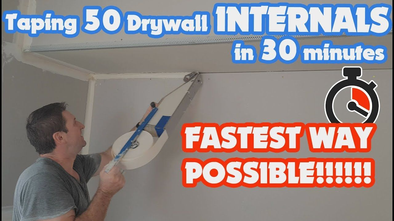 How To Mud Tape An Inside Corner Of Drywall Fast With A Mud Box Drywall Drywall Tools Drywall Corners