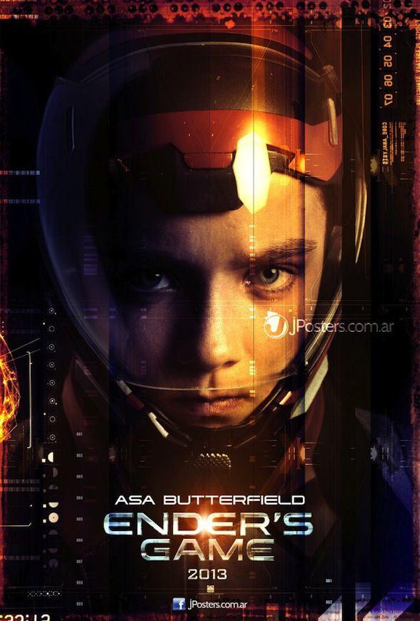 El Juego De Ender Posters Individuales De Los Protagonistas Cinemania Ender S Game Movie Posters Ender S Game Movie