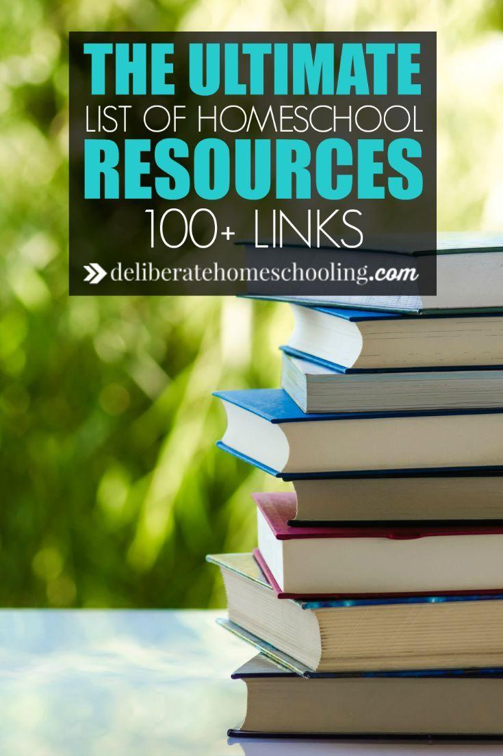 The Ultimate Homeschool Resource Page Homeschool, Free