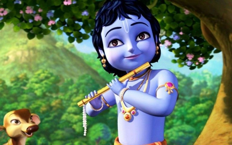 Little Krishna Download Hd Wallpaper From Besthdwallpaper Co