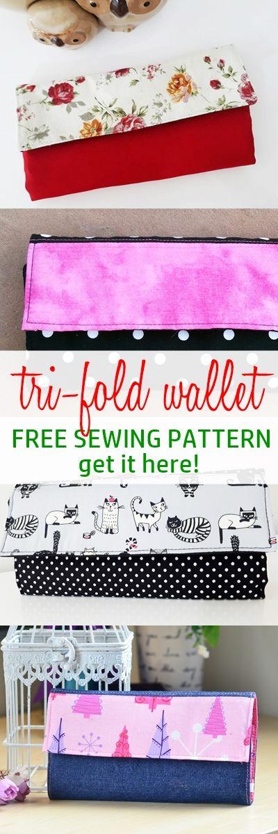 Super Simple Handmade Wallet Tutorial WITH Free Sewing Pattern   Nähen