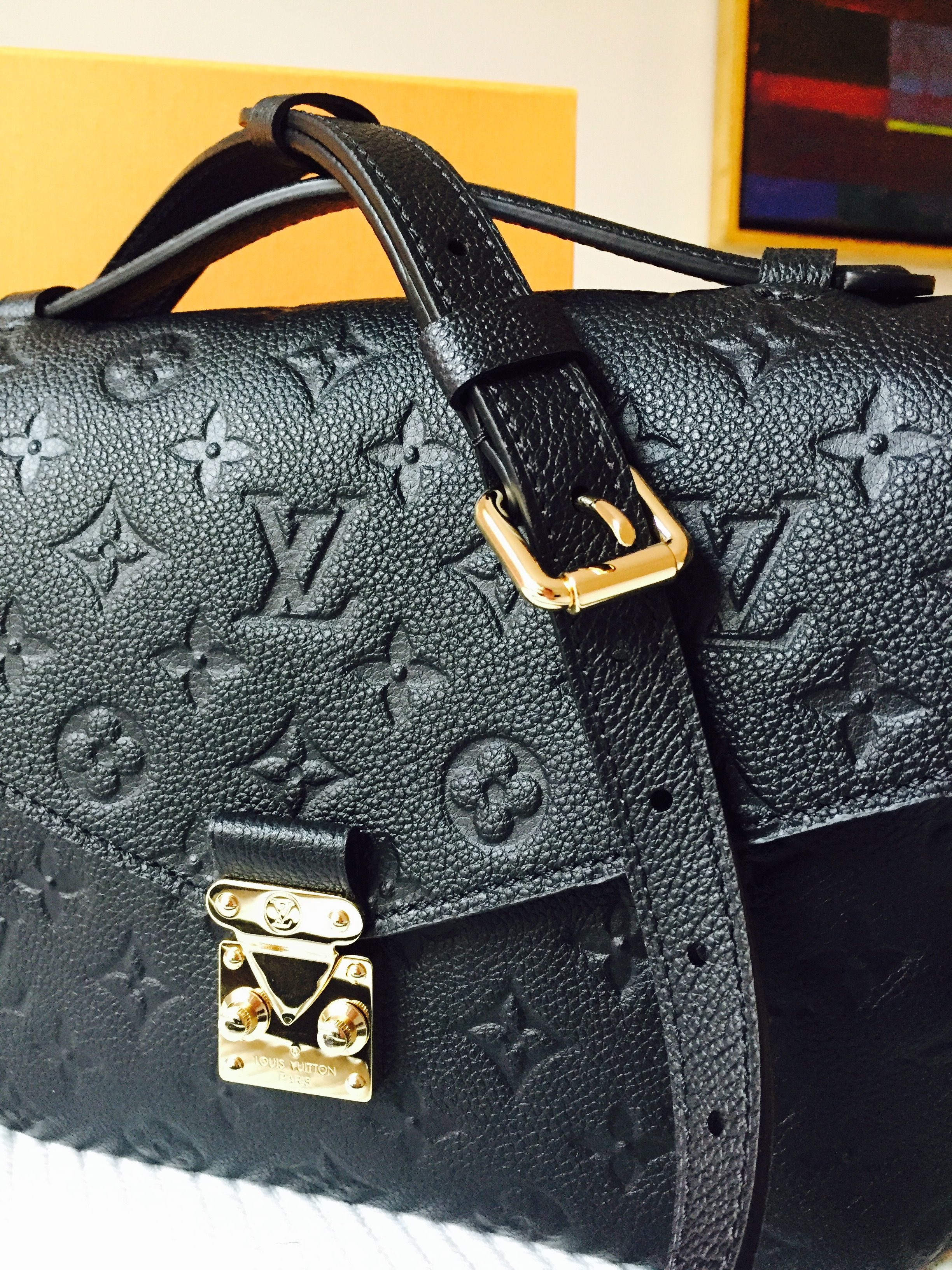 Louis Vuitton Pochette Metis Empreinte Black Holt Shit Lust