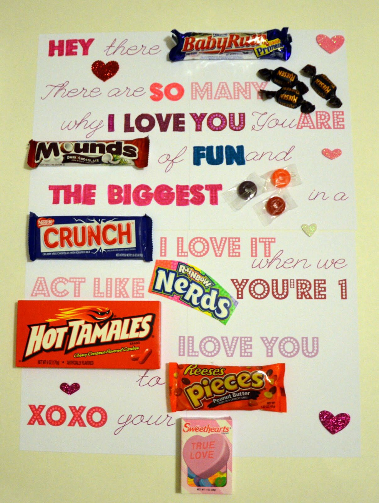 Sweet candy gram Candy poster, Valentines day activities