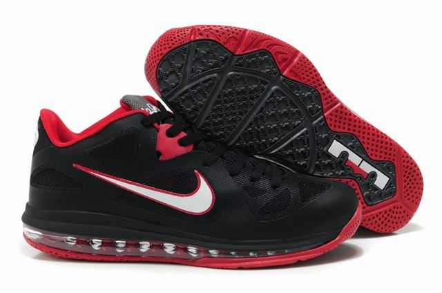 info for 7847f 7f91c Lebron 9 Low on sale Black White Red. Nike Air Max Lebron 9 Low Shoes ...