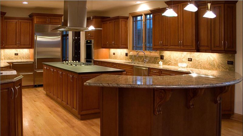 Best Cherry Cabinets With Handles And Light Floors Light 400 x 300