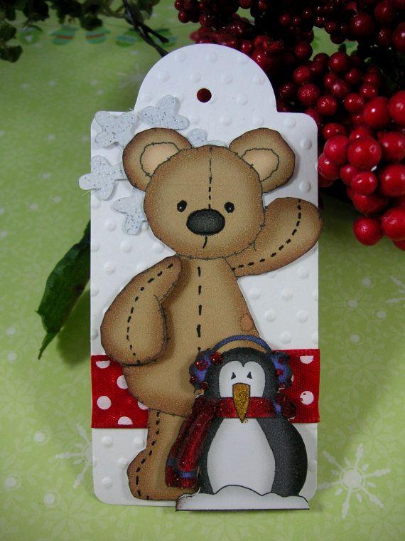 Christmas Bear with Penguin TAGChristmas