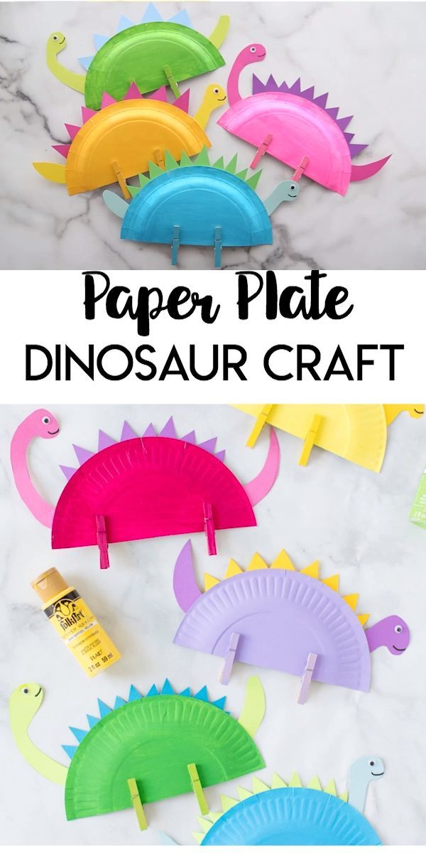 Photo of Paper Plate Dinosaur Craft