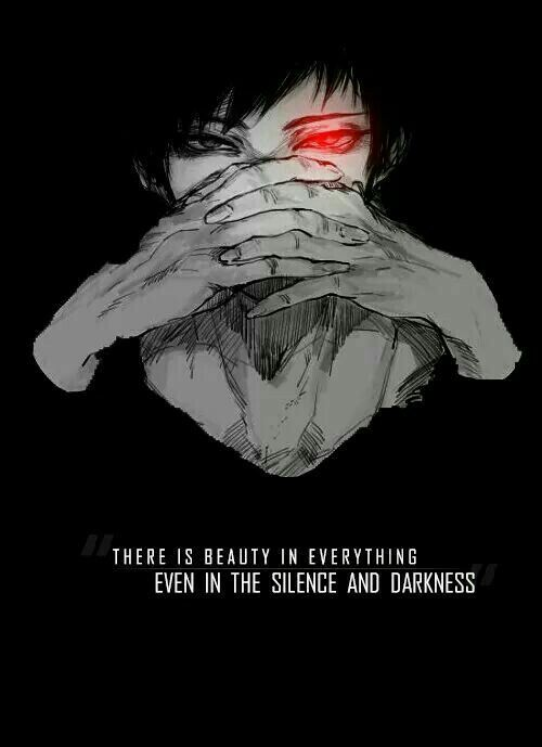 Silence 1 Pinterest Darkness Anime And Tokyo Ghoul