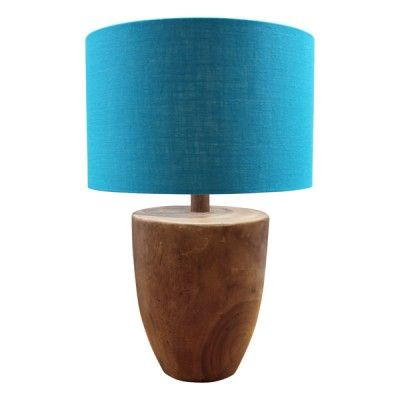 Timber Pod Lamp with Linen Shade $470