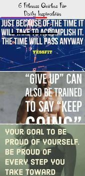 6 Fitness Quotes For Daily Inspiration - Pinokyo  6 Fitness Quotes For Daily Inspiration   Motivatio...