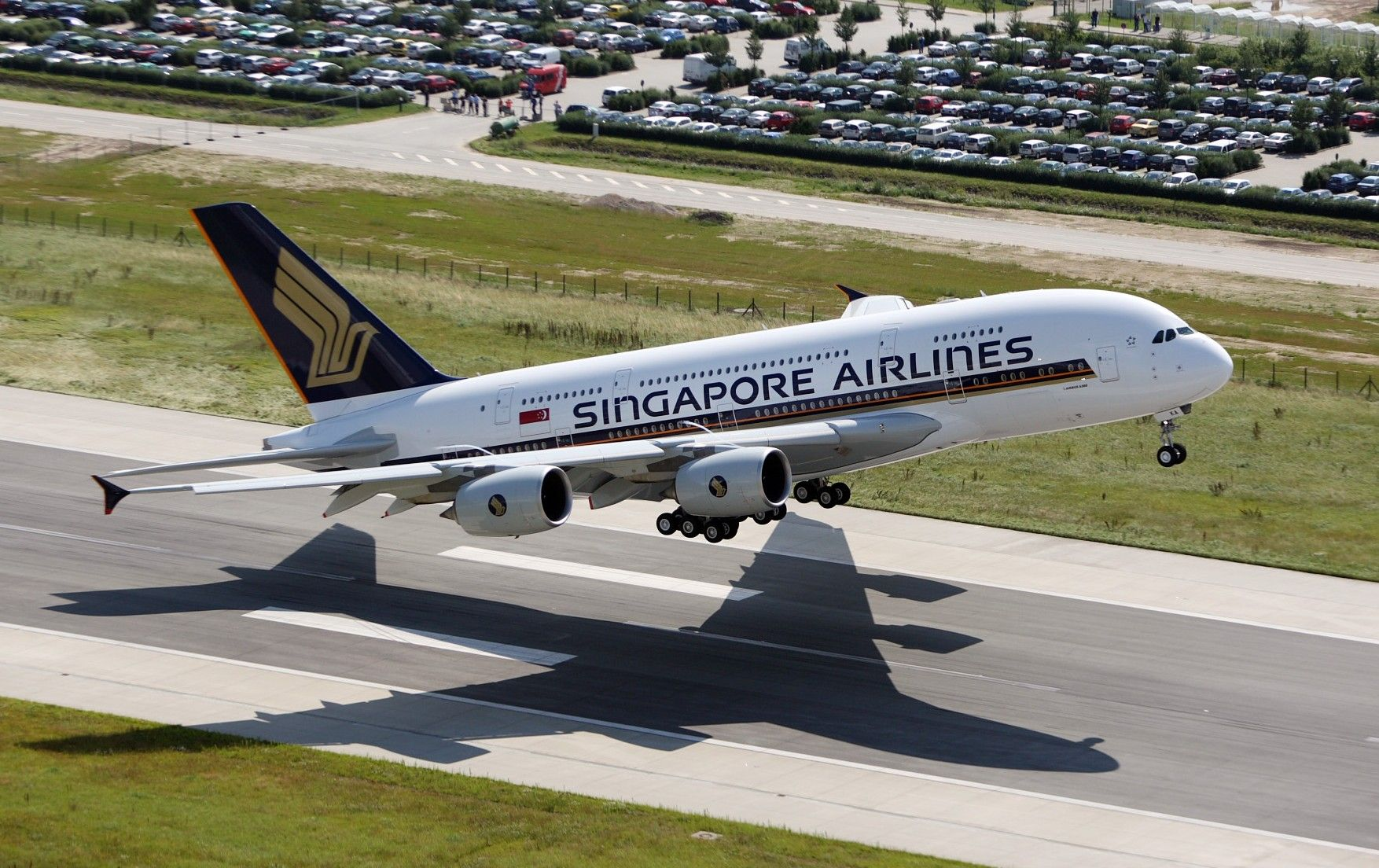 Singapore Airlines A380800 シンガポール航空, 飛行機, 航空