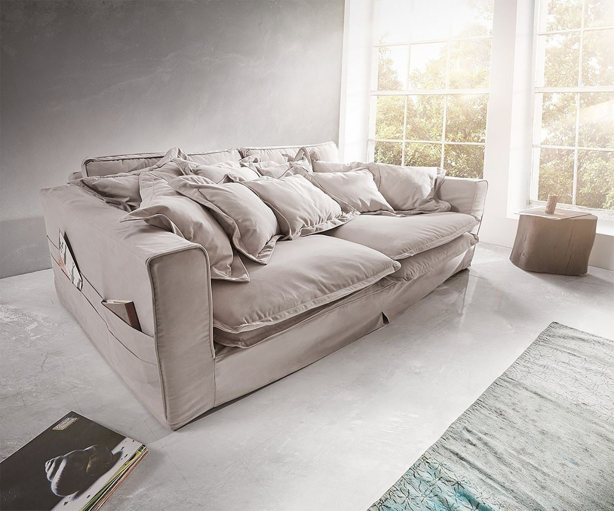 Big Sofa Noelia 240x145 Cm Mit Kissen Hussensofa Design Sofa Mobel Sofa Grosse Couch Sofa Landhausstil
