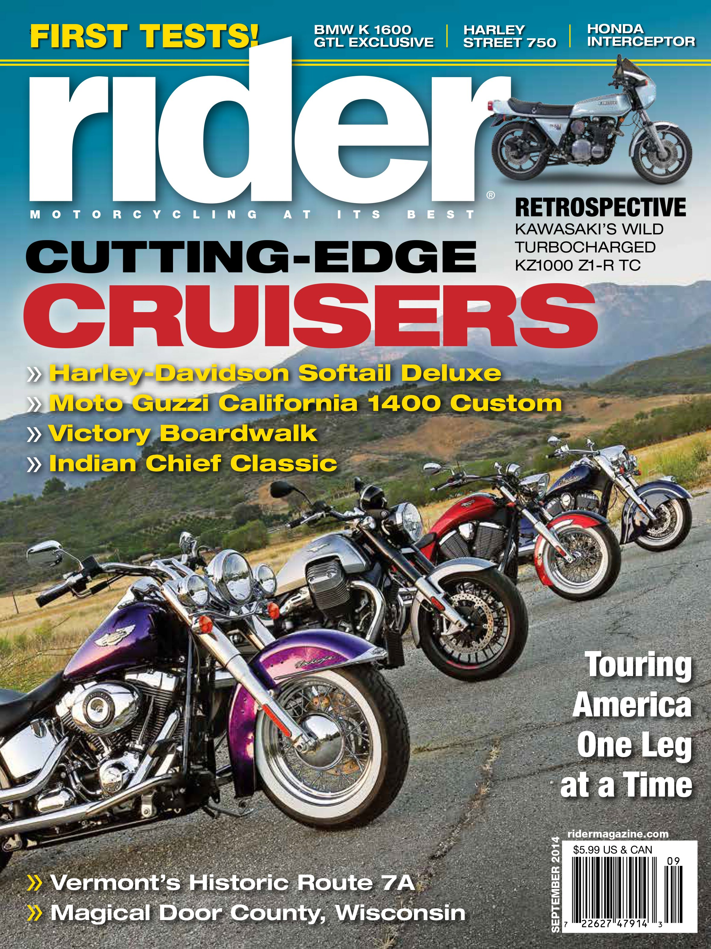 Rider Magazine Cover September 2014 Motorcycles And More