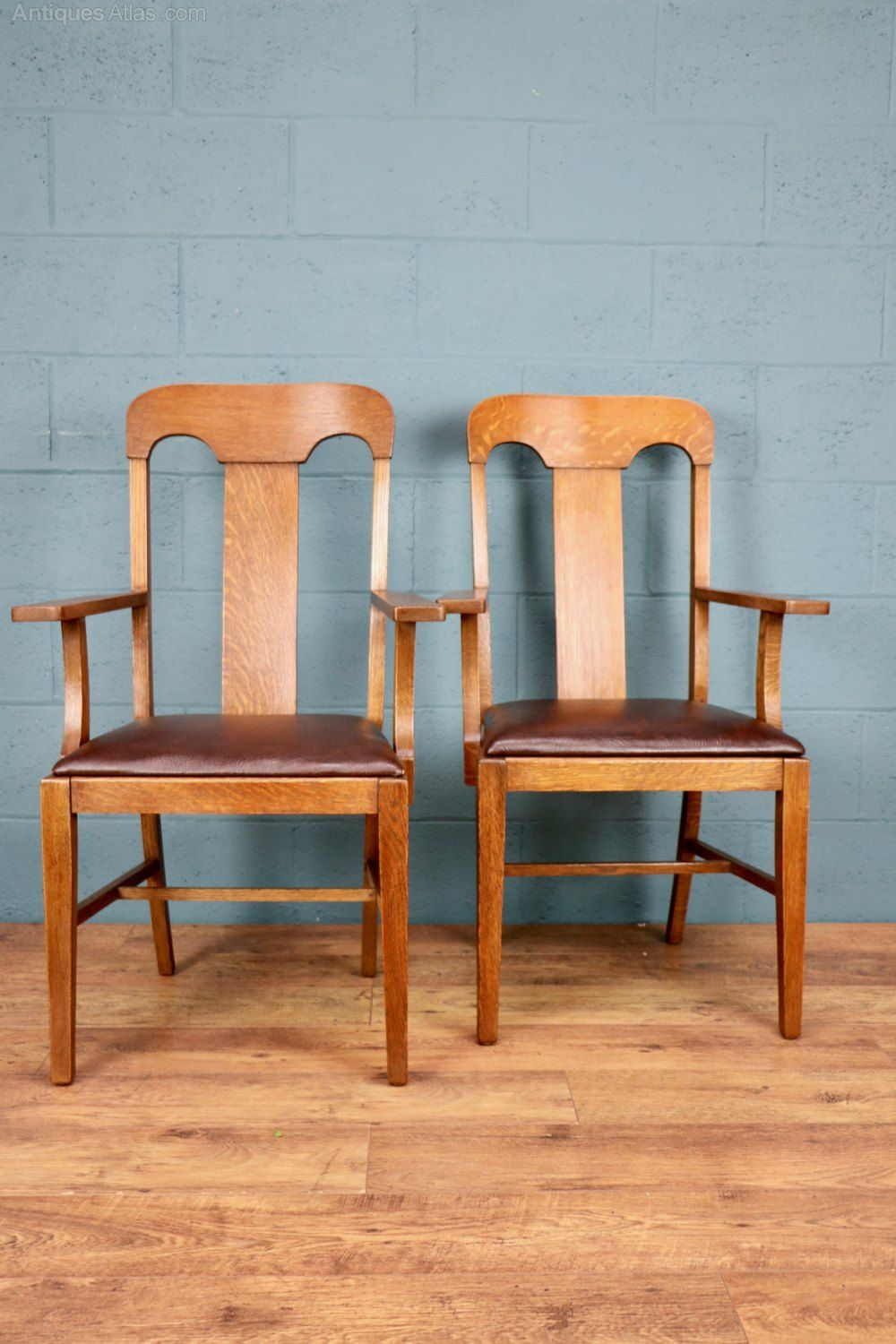 Arts And Crafts Oak Carver Chairs
