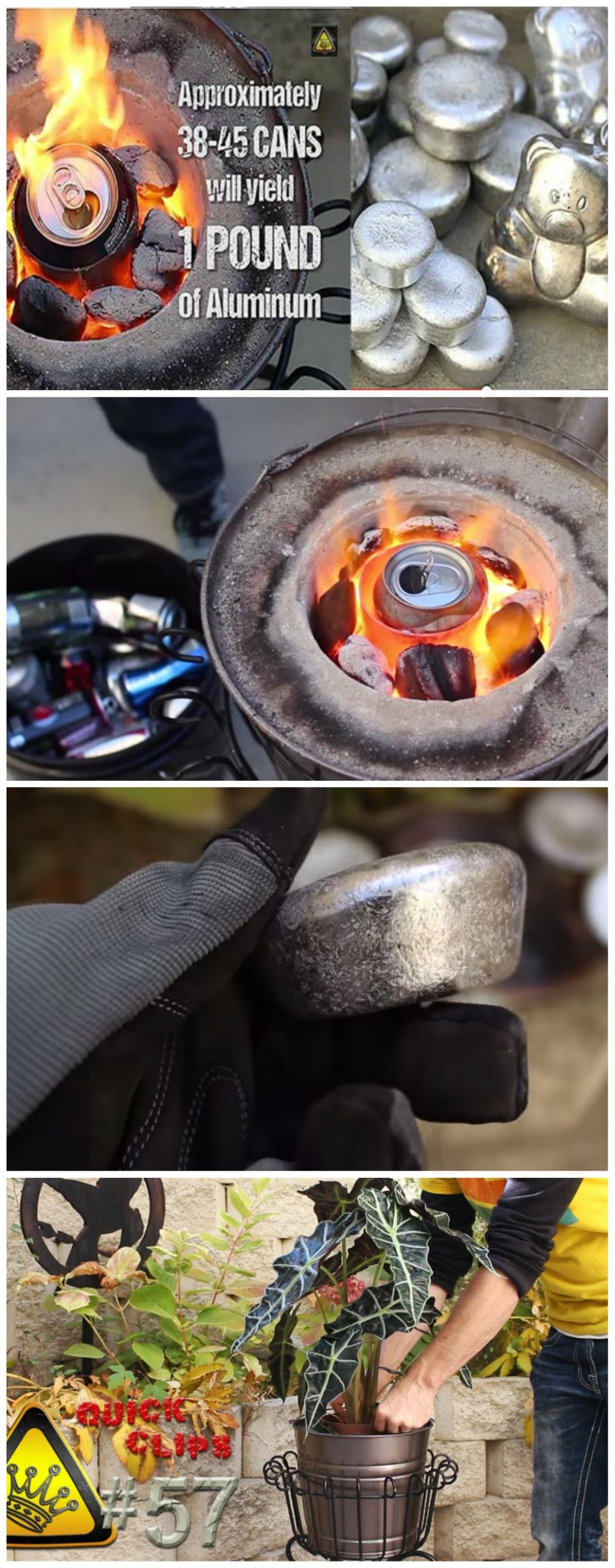 diy melting cans with the mini metal foundry diy pinterest