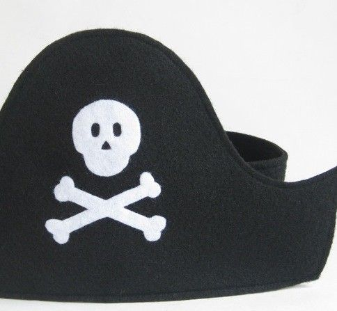 Felt Pirate Hat and Eye Patch by TwoLittleBluebirds on Etsy