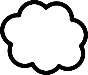 Pin By Cloud Clipart On Cliparts Cloud Outline Cloud Shapes Thought Cloud