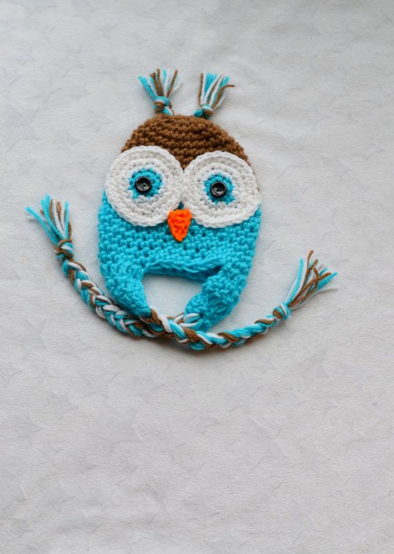 Owl Hats for Baby Boy. Crochet Owl Hat on Etsy, $12.00 | Things to ...