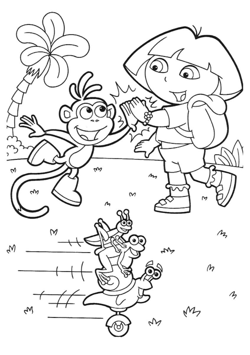 Pin de Coloring Fun en Dora The Explorer | Pinterest | Dora exploradora