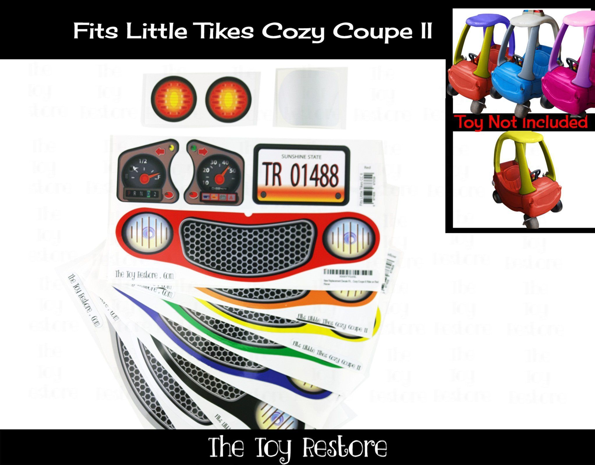 Replacment Stickers Fits Little Tikes Cozy Coupe Ii Ride On Car Toy Color Choice Cozy Coupe Little Tikes Cozy Coupe Makeover [ 1600 x 2044 Pixel ]