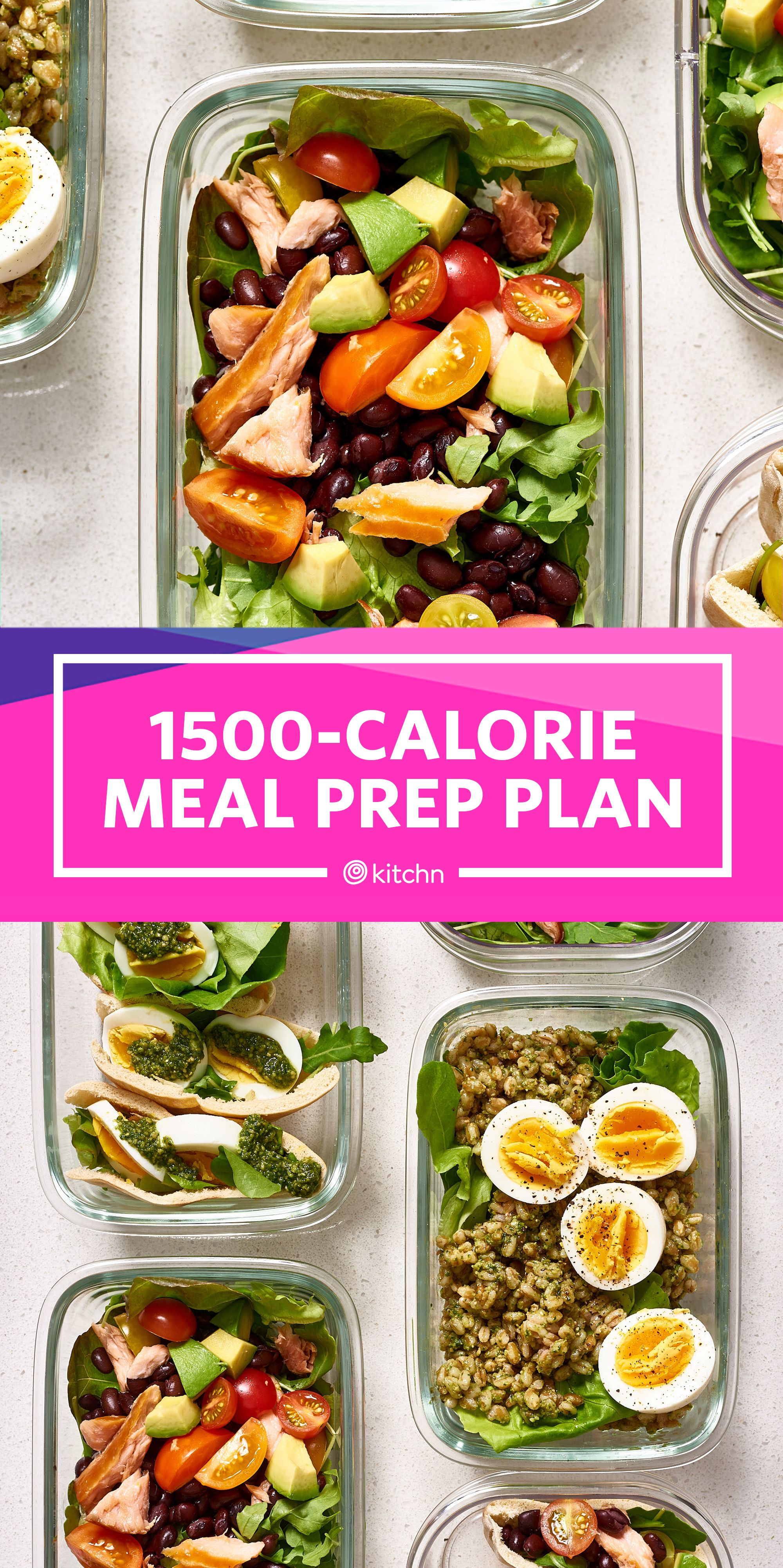 Meal Prep Plan A Week of Easy 1500Calorie Days Meal
