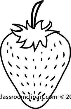 strawberry fruit outlinejpg
