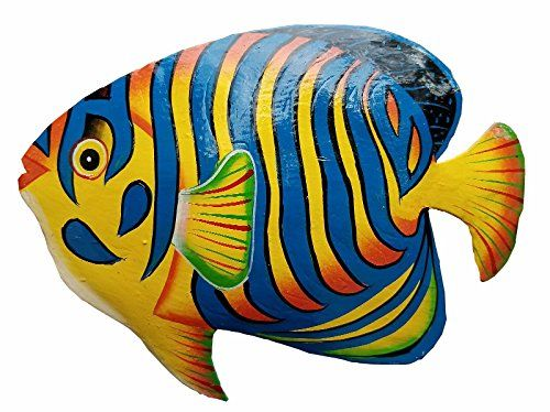 Hand Chiseled And Painted Tropical Metal Art Wall Decor F Https Www Amazon Com Dp B06zzh4dbd Ref Cm Sw R Pi Dp Fish Wall Art Metal Fish Wall Art Fish Art