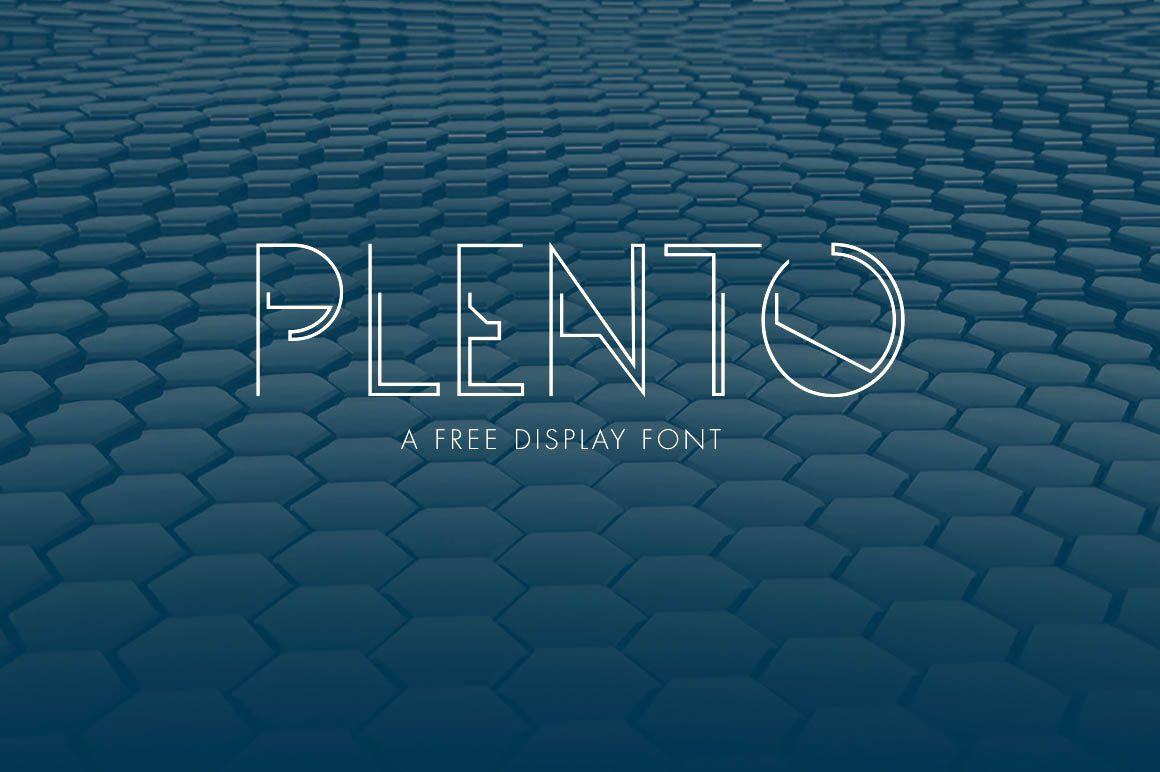 Plento - Free Futuristic Font | teleport | Futuristic fonts