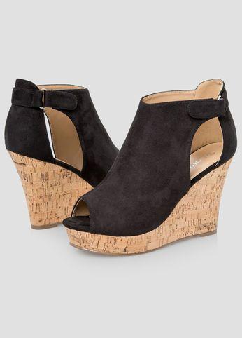 7cbb7370c1a Open Toe Cork Wedge - Wide Width | SHOE LOVE | Wide width shoes ...