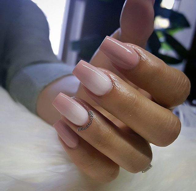 Reverse Ombre Coffin Nails Prom Nails Pinterest Nails Coffin