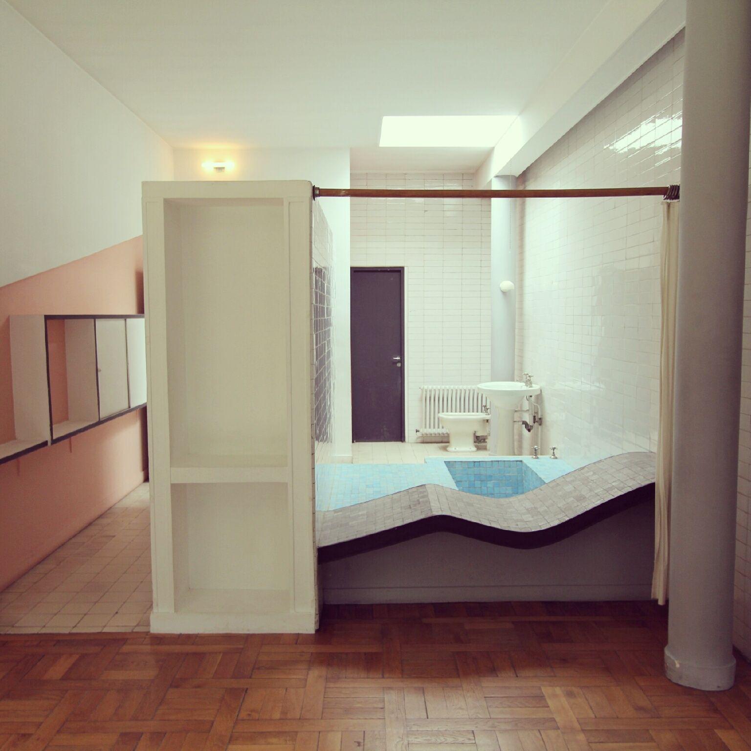 villa savoye bathroom google search future home pinterest salle de bains salle et cuisines. Black Bedroom Furniture Sets. Home Design Ideas