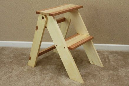 Wooden Folding Step Stool My Husband Built This For His Step Mom Folding Step Stool Wooden Step Stool Step Stool