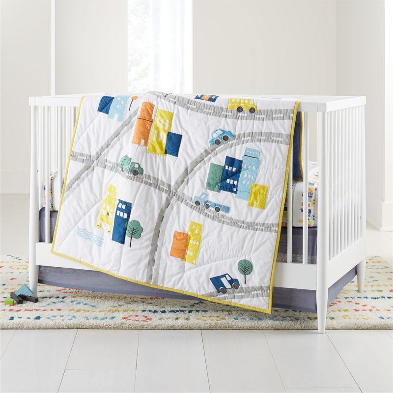 Cityscape Crib Bedding Crate And Barrel Crib Bedding Toddler Sheet Set Blue Crib