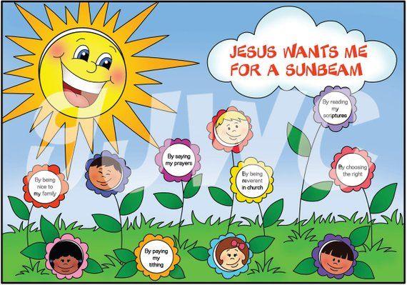 Jesus Wants Me For A Sunbeam File Folder Game Downloadable Pdf