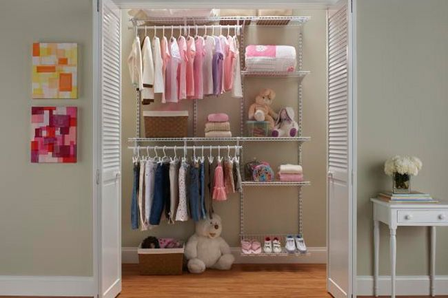The ClosetMaid® ShelfTrack® Adjustable Closet Organization System Allows  Our Wire Shelves To Be Set To Any Height, And Is Perfect For Use In A  Childu0027s ...