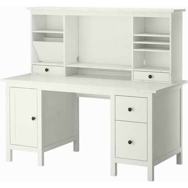 Ikea Hemnes Desk With Add On Unit White Stain 2 725 Vef Liked On Polyvore Featuring Home Furniture Desks Ikea Hemnes Desk Ikea Hemnes Desk With Drawers