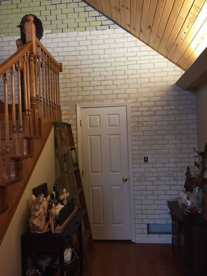 How To Diy A Faux Brick Wall With Sheetrock Plaster Faux