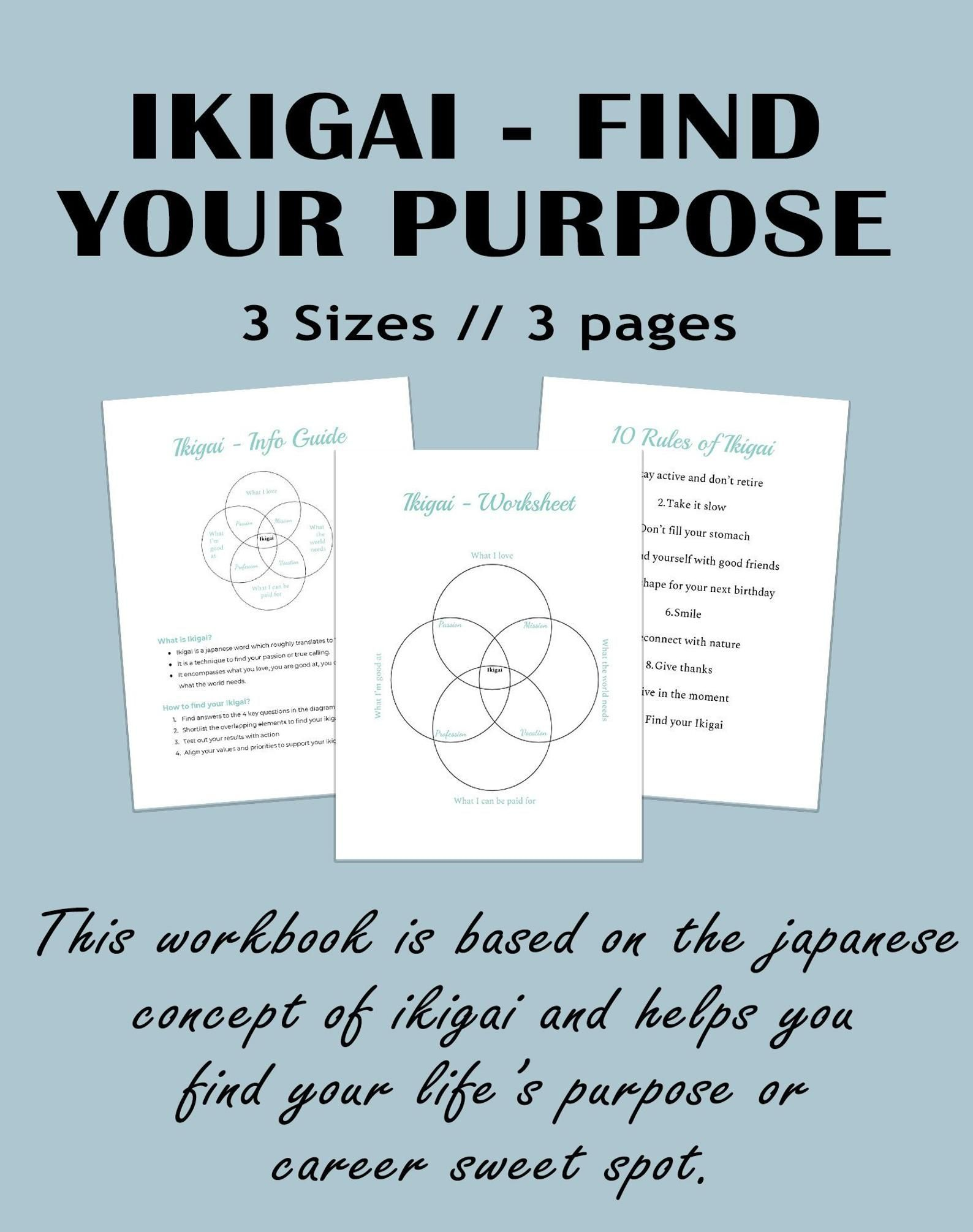 Find Your Ikigai Worksheet Find Your Career Career Test