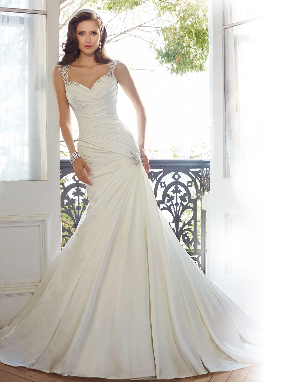 Lace strap wedding dress  No lace no tulle  Wedding stuff  Pinterest  Wedding stuff and