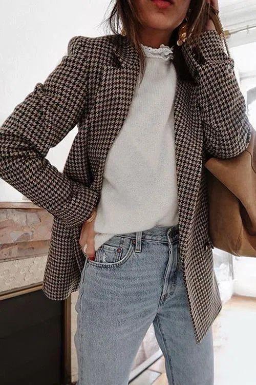 The perfect autumn wardrobe item: Checked Blazers