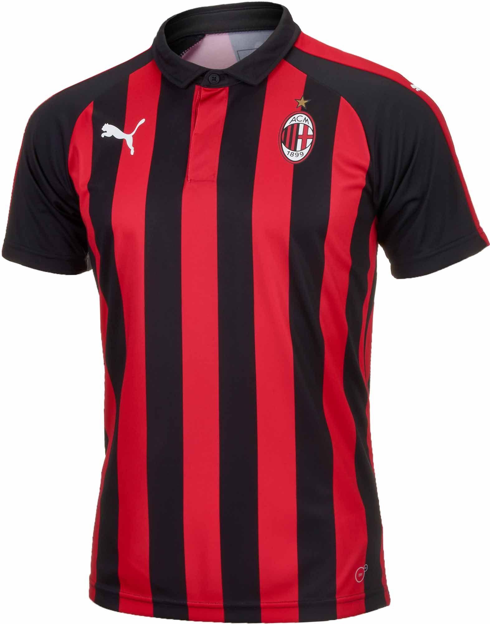 Download Puma Ac Milan Home Jersey Special Edition 2018 19 Soccerpro Pakaian Olahraga Jersey Sepak Bola Kaos Sablon
