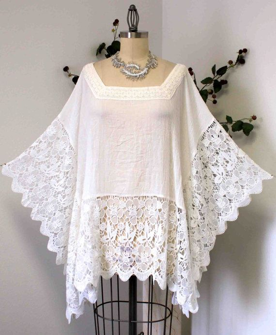 New Dare2bstylish Designer Plus size Poncho, Lace Poncho, Lace Tunic ...