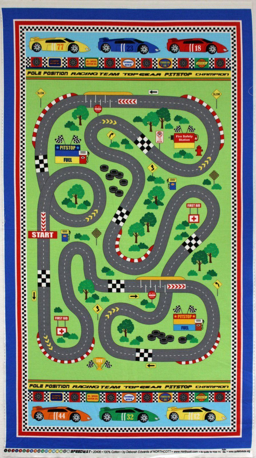 Speedway Race Car Panel Quilt Juegos Para Ni 241 Os