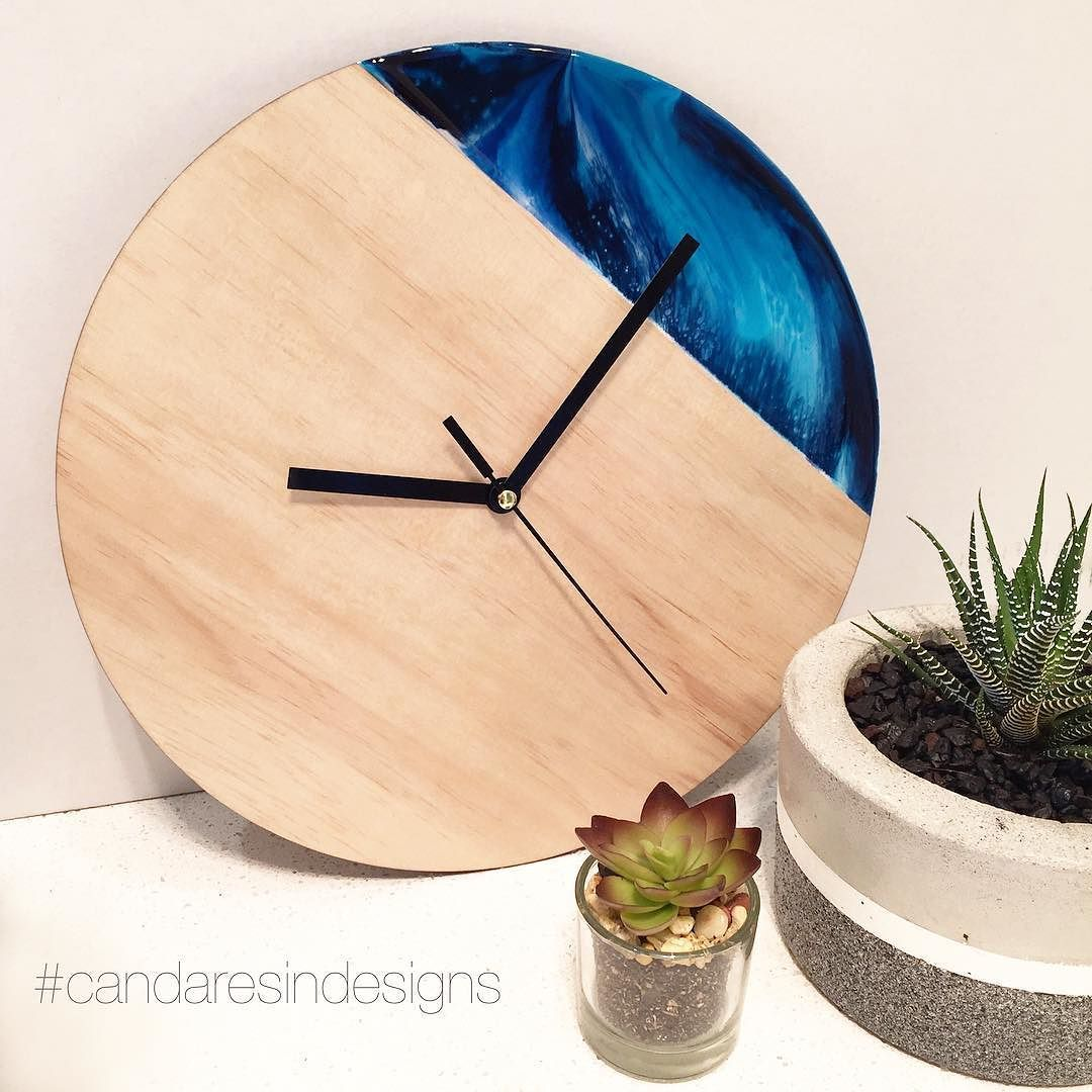 Limited edition resin and wood clocks available