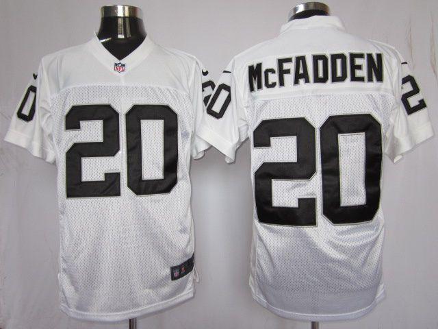 508aec658 mens nike nfl oakland raiders 20 darren mcfadden white elite jerseys