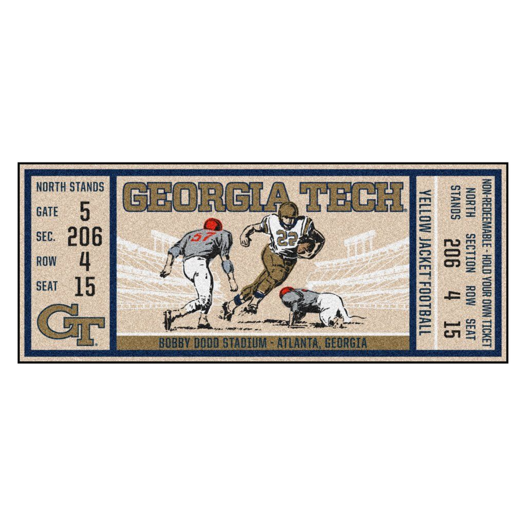 "Tech Ticket Runner 30""x72"" Game tickets, Carpet"