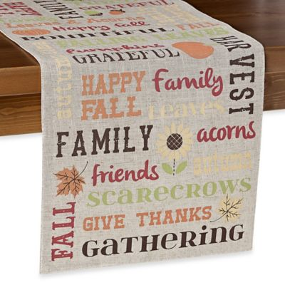 Captivating Buy Sam Hedaya Bountiful Words Table Runner From Bed Bath U0026 Beyond