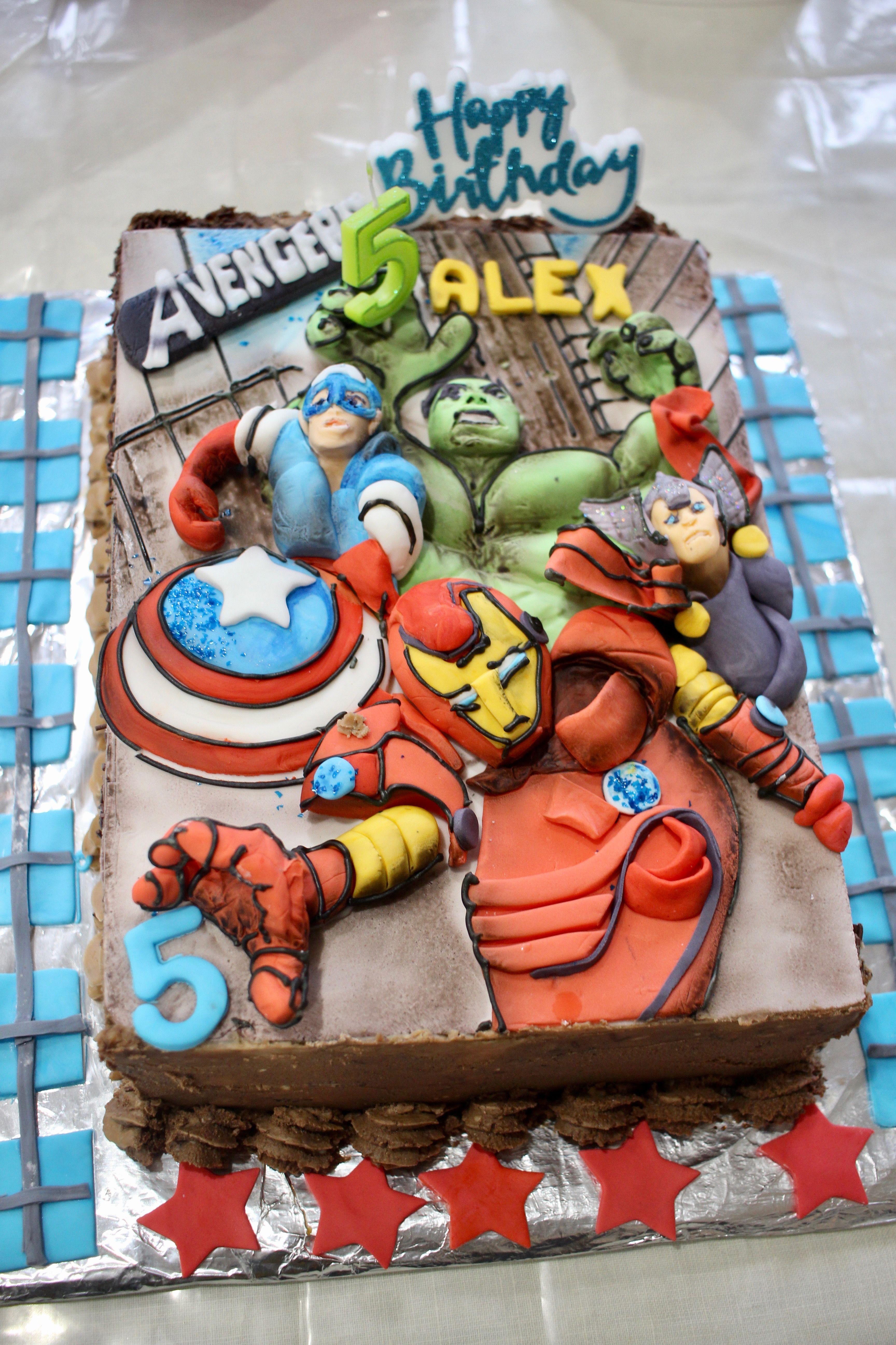 Avengers birthday cake avengers birthday cakes kids