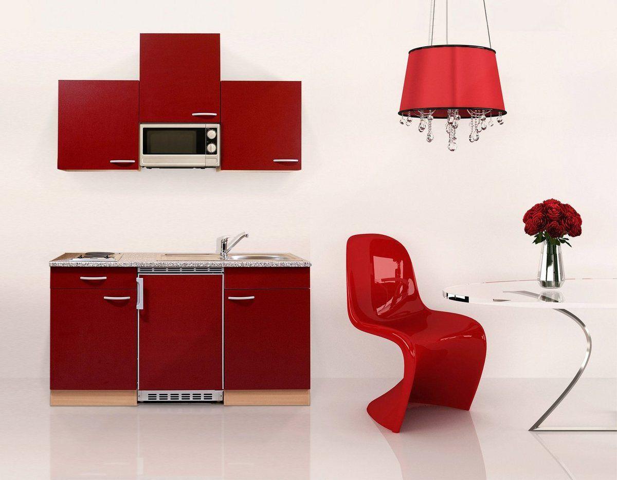 Küchenzeile mit EGeräten »Single Küche«, Gesamtbreite 150