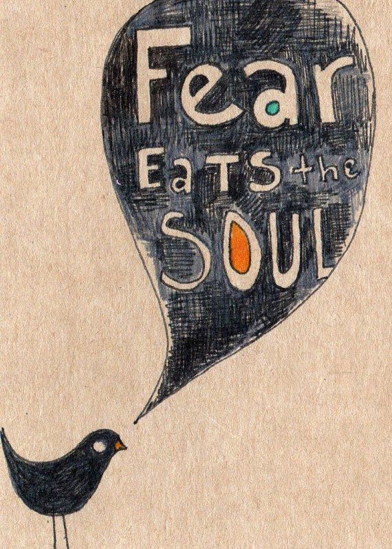 Beautiful Items Similar To Fear Eats The Soul   Print Of An Original Drawing Of A  Little Black Bird Saying A Very Big Quote Print Of With Words On Etsy